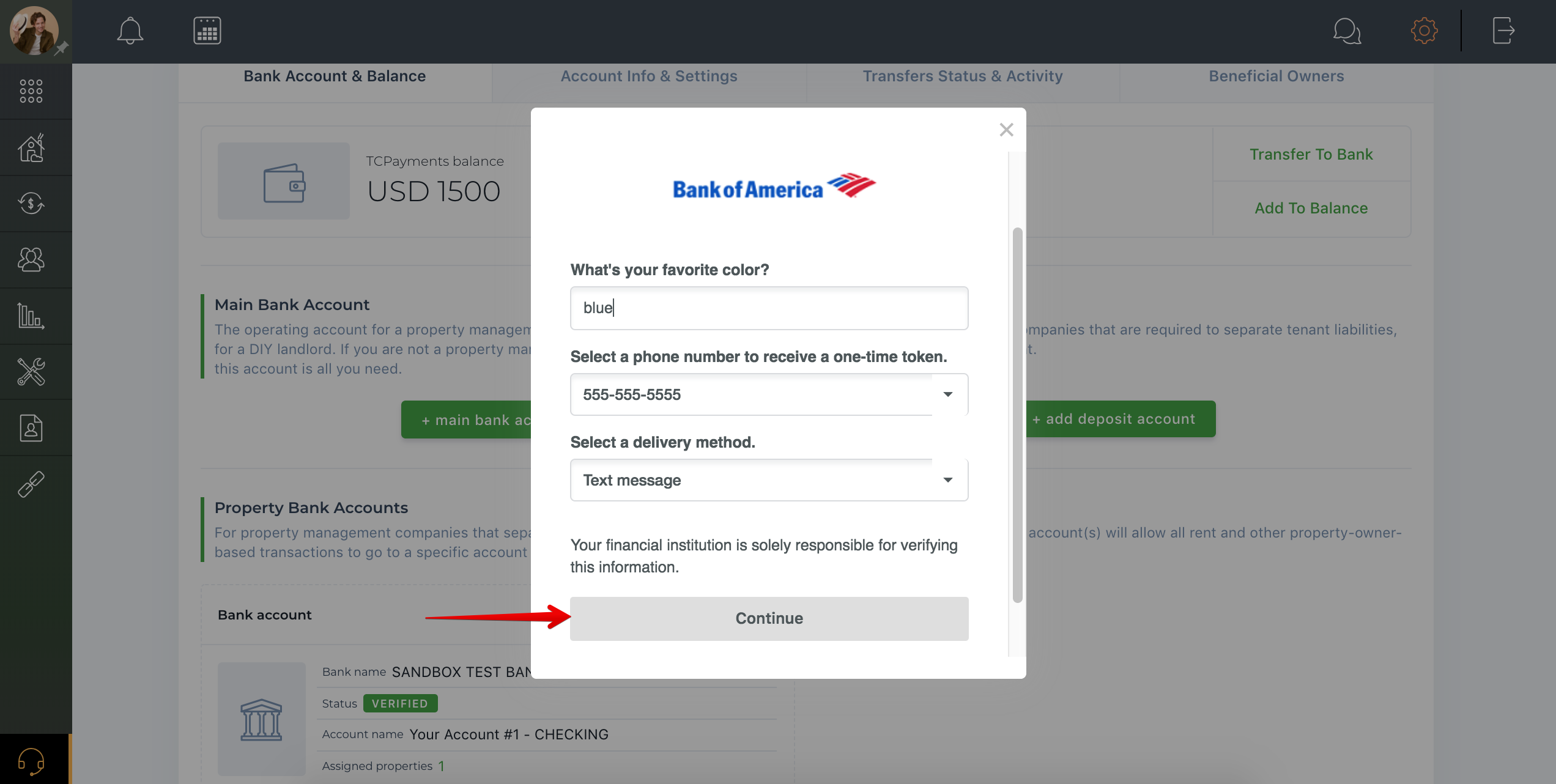 How to add a bank account?
