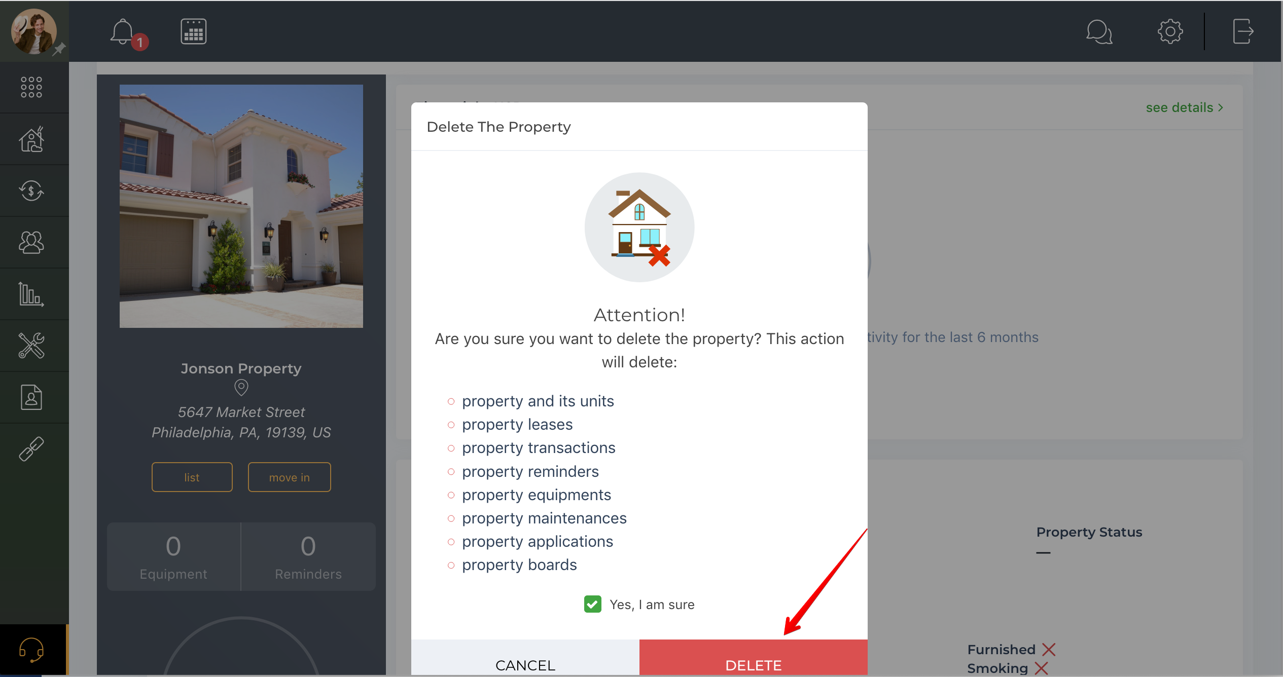 How to remove property?