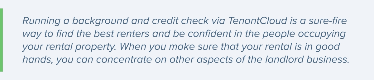 TenantCloud background and credit check
