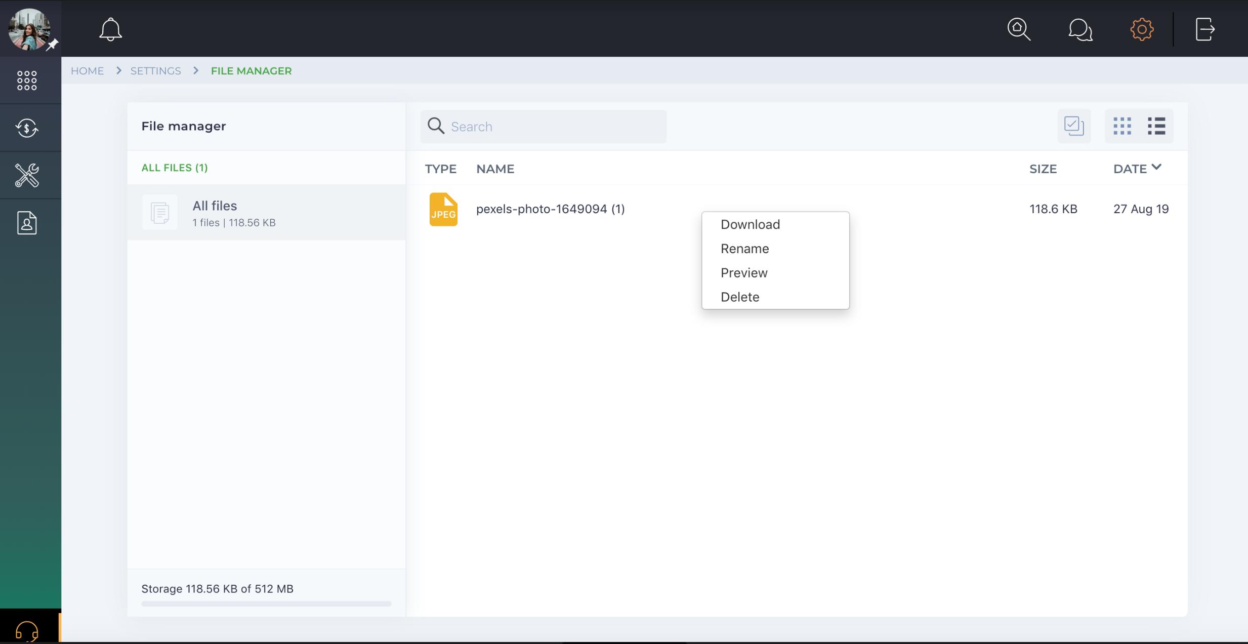 How do I manage uploaded files?