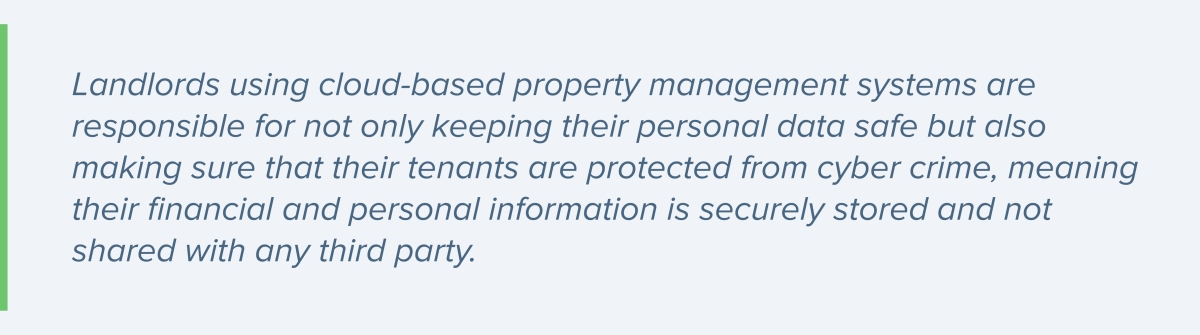 Using cloud-based property management systems by landlords