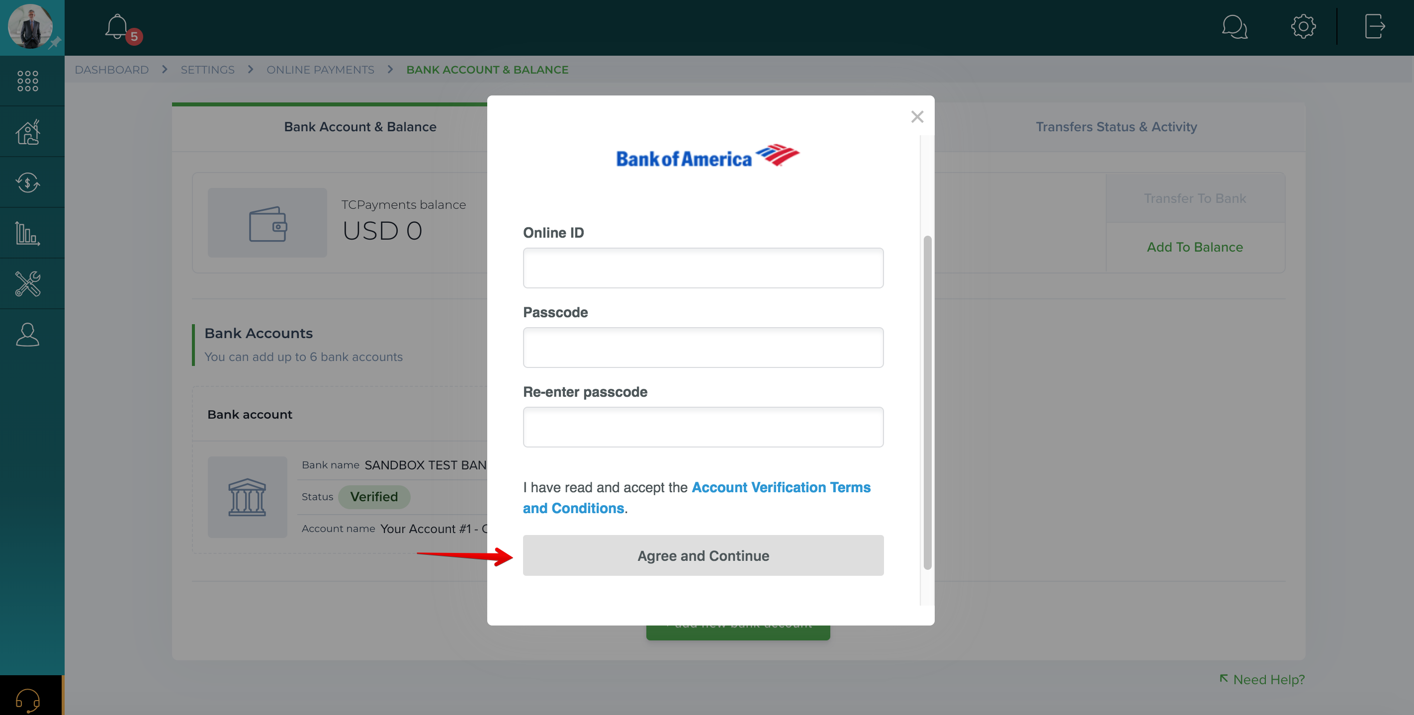 How do I add a bank account?