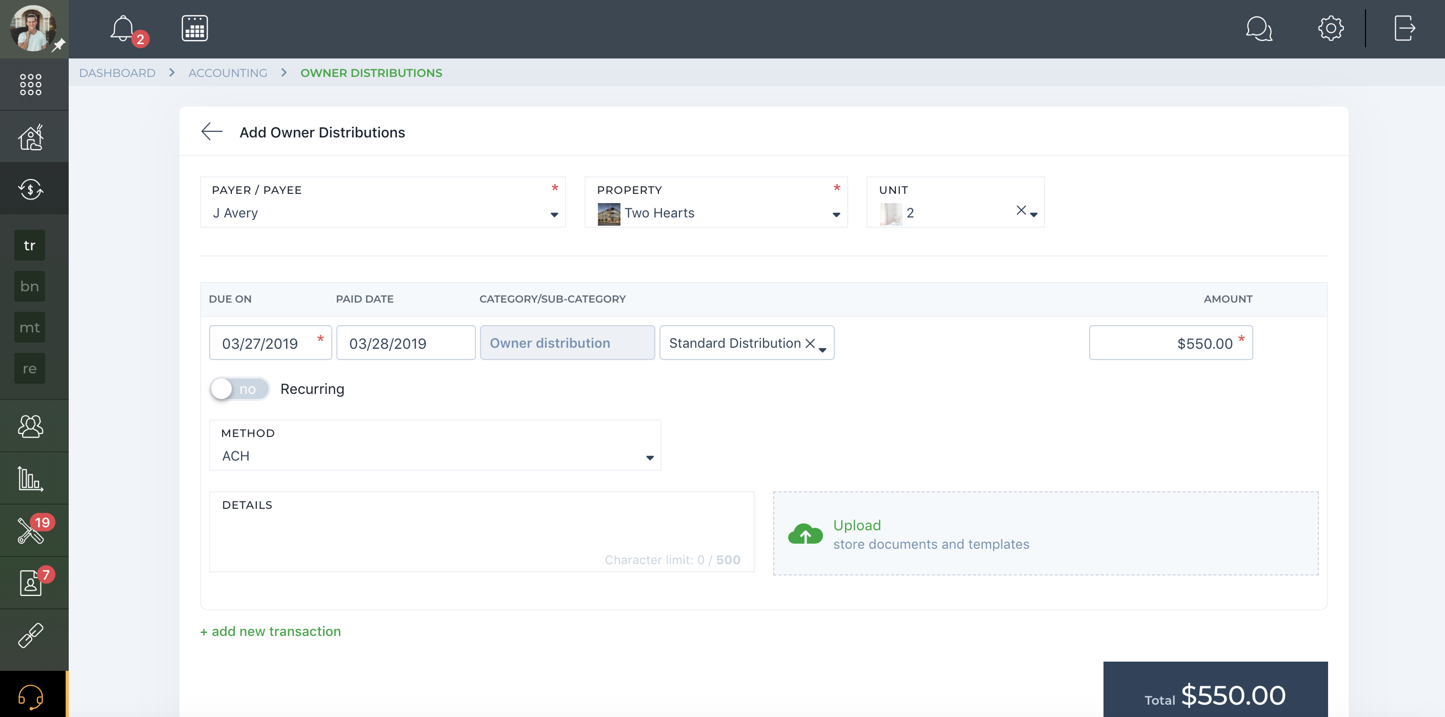Owner distribution from property managers via TenantCloud is easy.