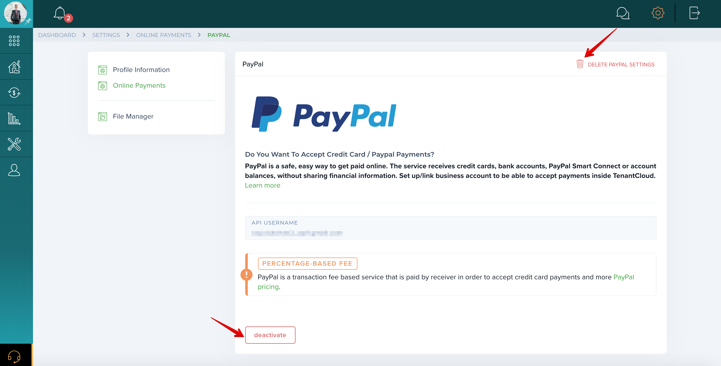 How do I deactivate my PayPal account?