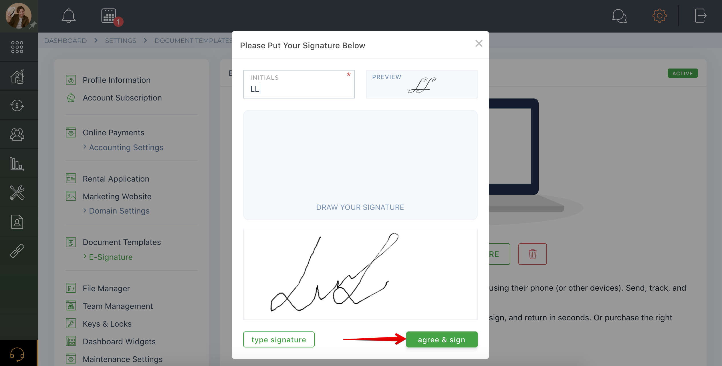 How to update electronic signature?