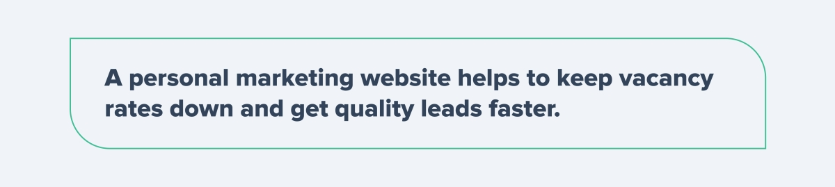 Personal marketing website