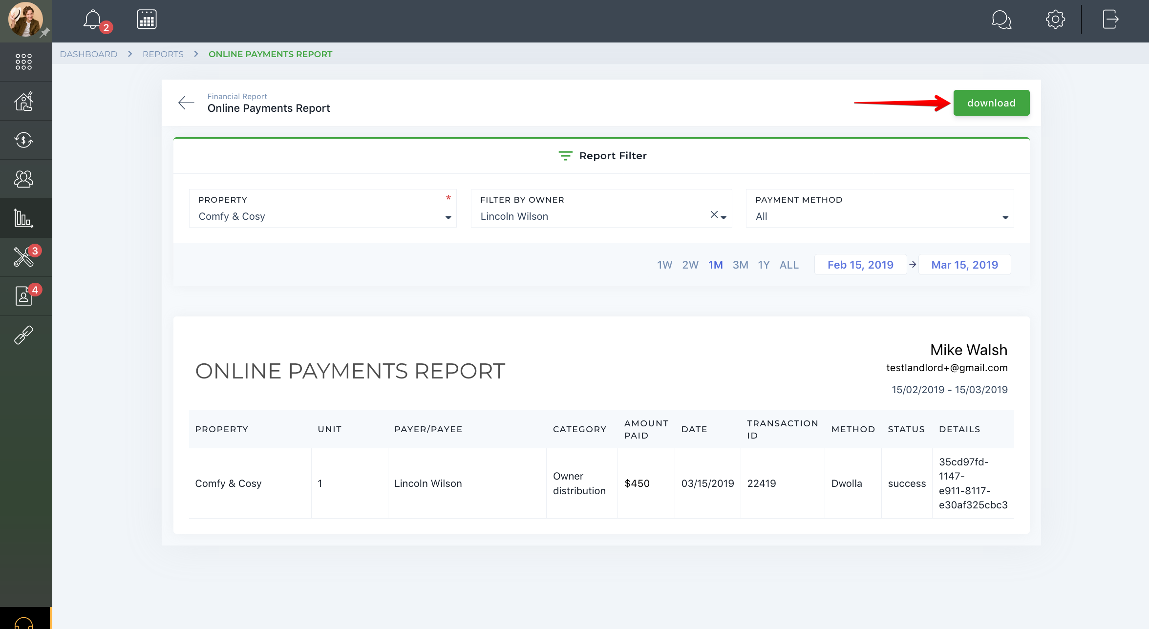 Online Payments Report