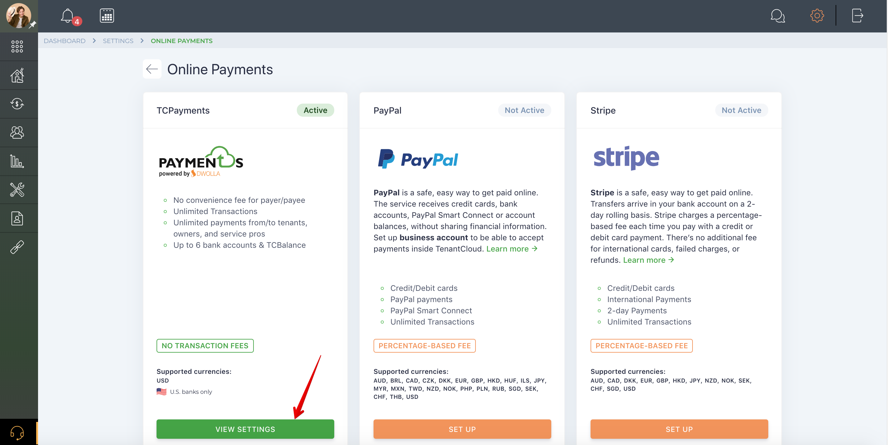Payment Activity & Searching