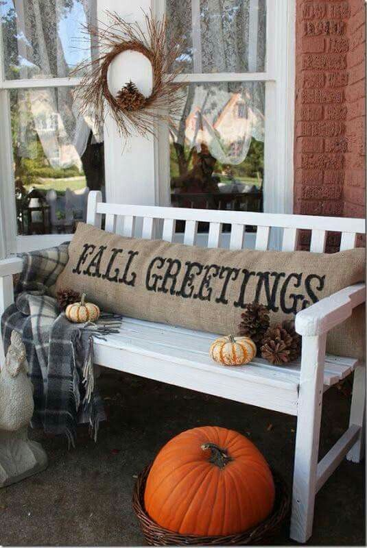 decorating porch in your single family home for Halloween