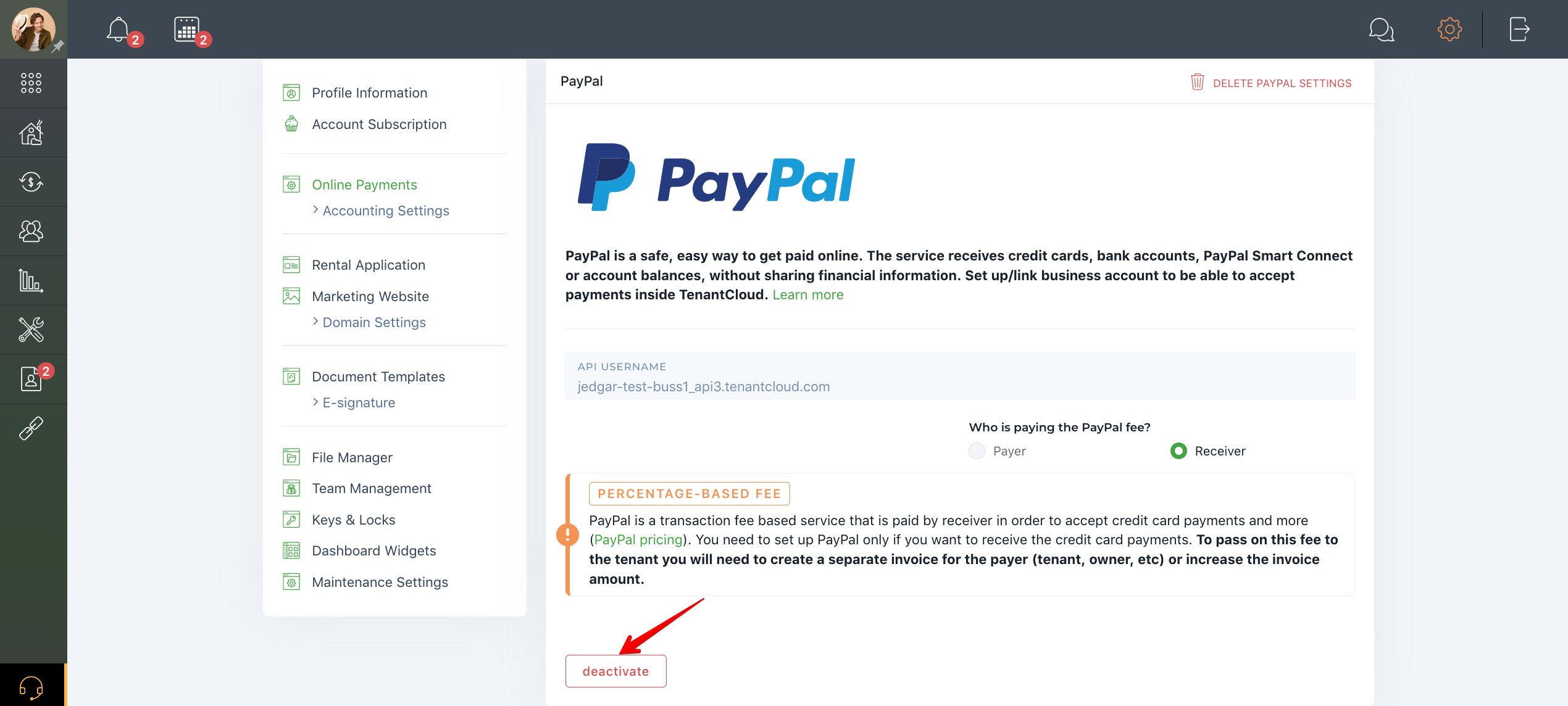 How to deactivate my PayPal account?
