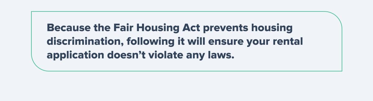 Fair Housing Act prevents housing discrimination
