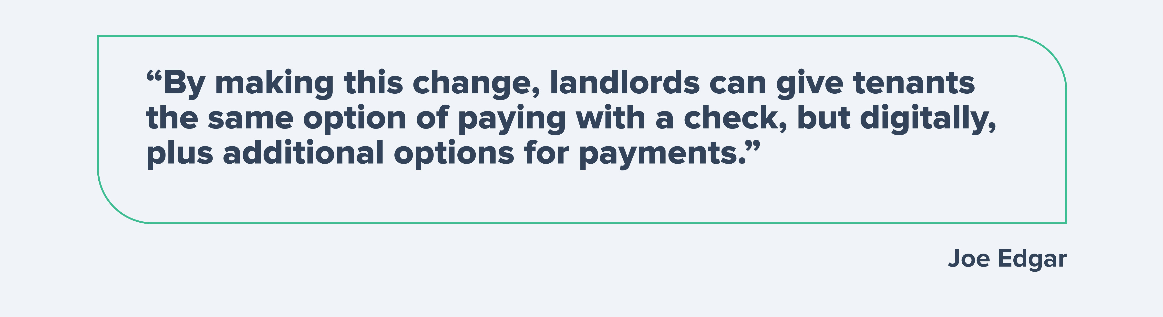 Digital payments for tenants