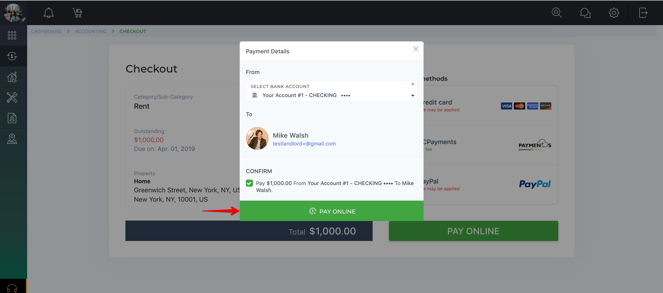 How to pay rent online with TC Payments powered by Dwolla?
