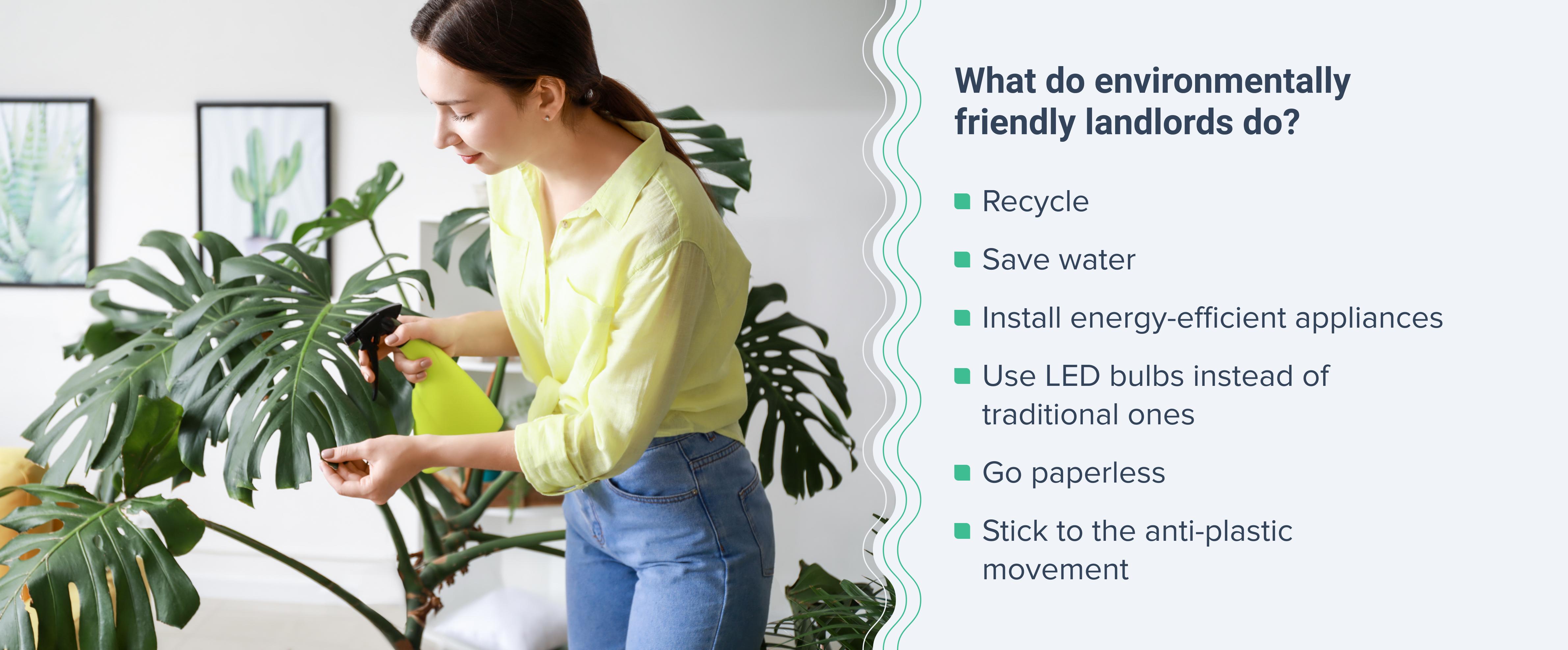Environmentally friendly landlords