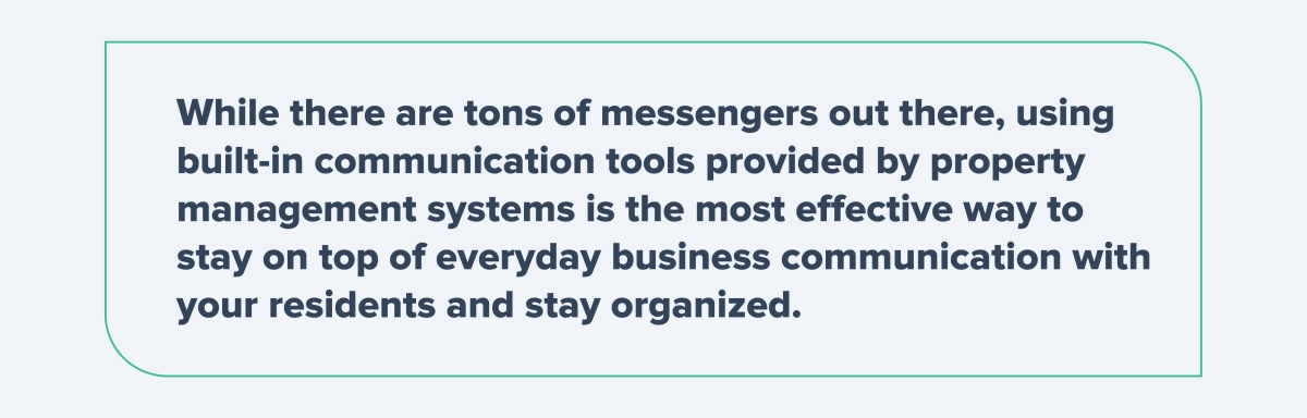 Built-in communication tools