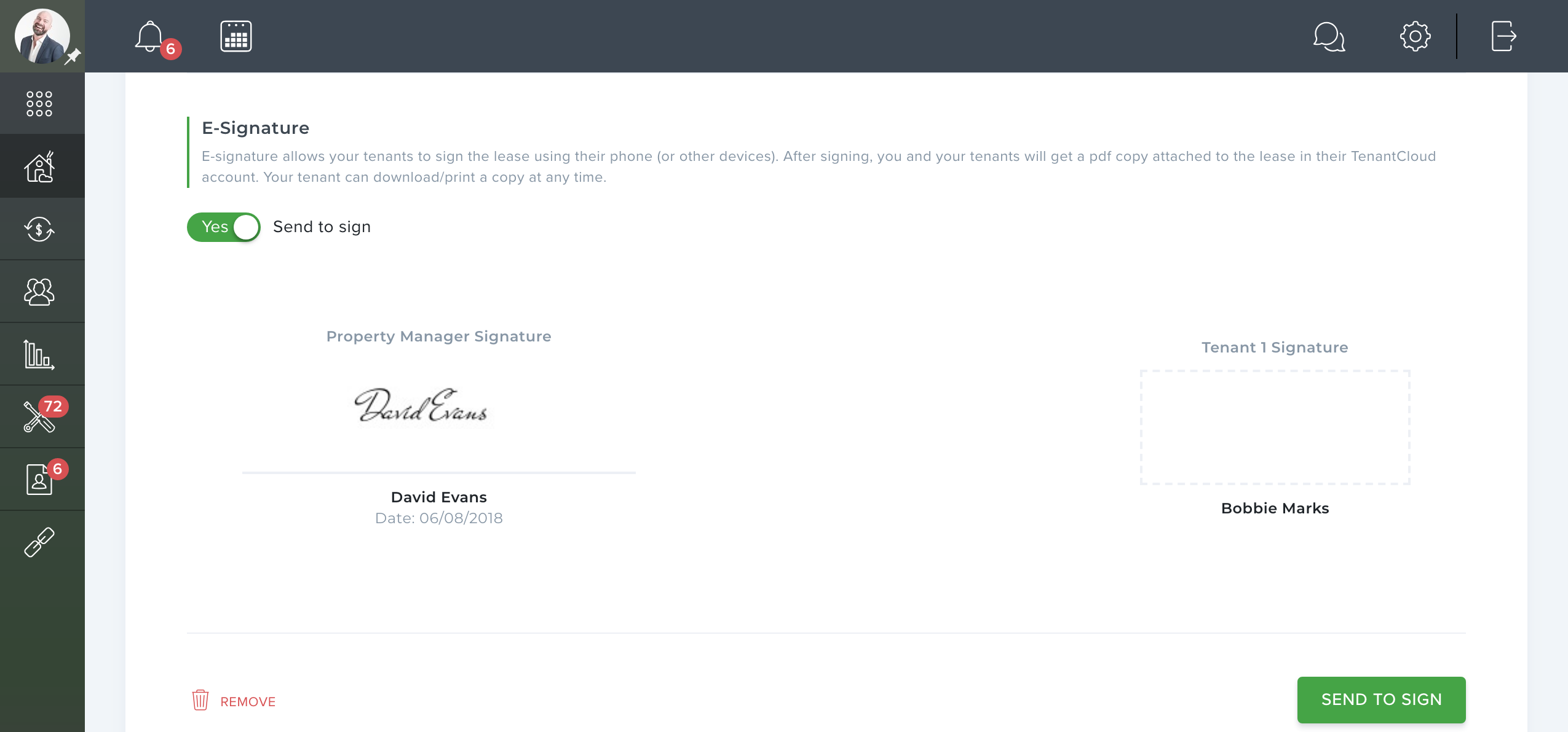 electronic signature for landlords