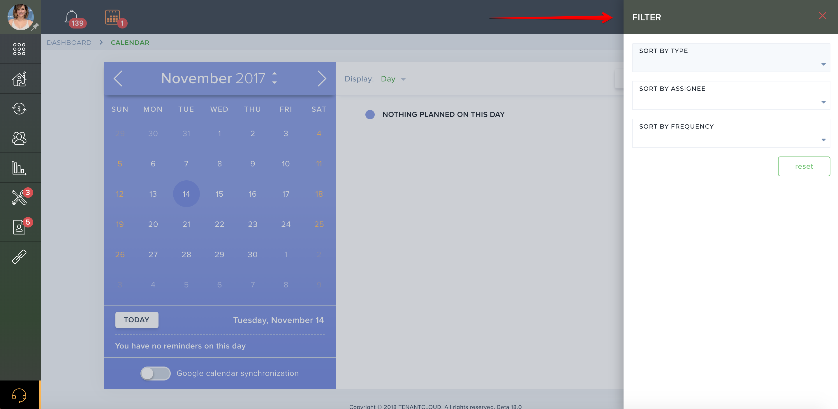 How do I view calendar items?