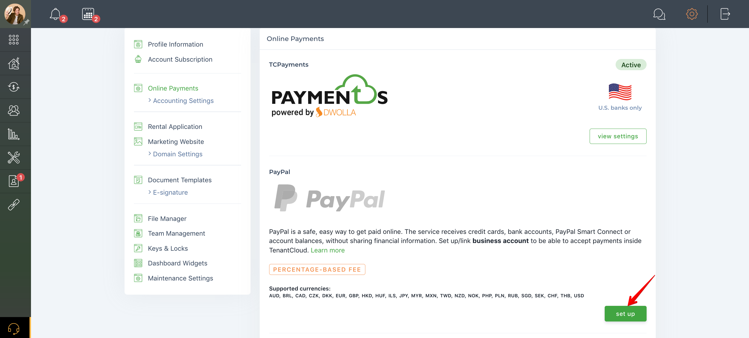 How to set up my PayPal account?